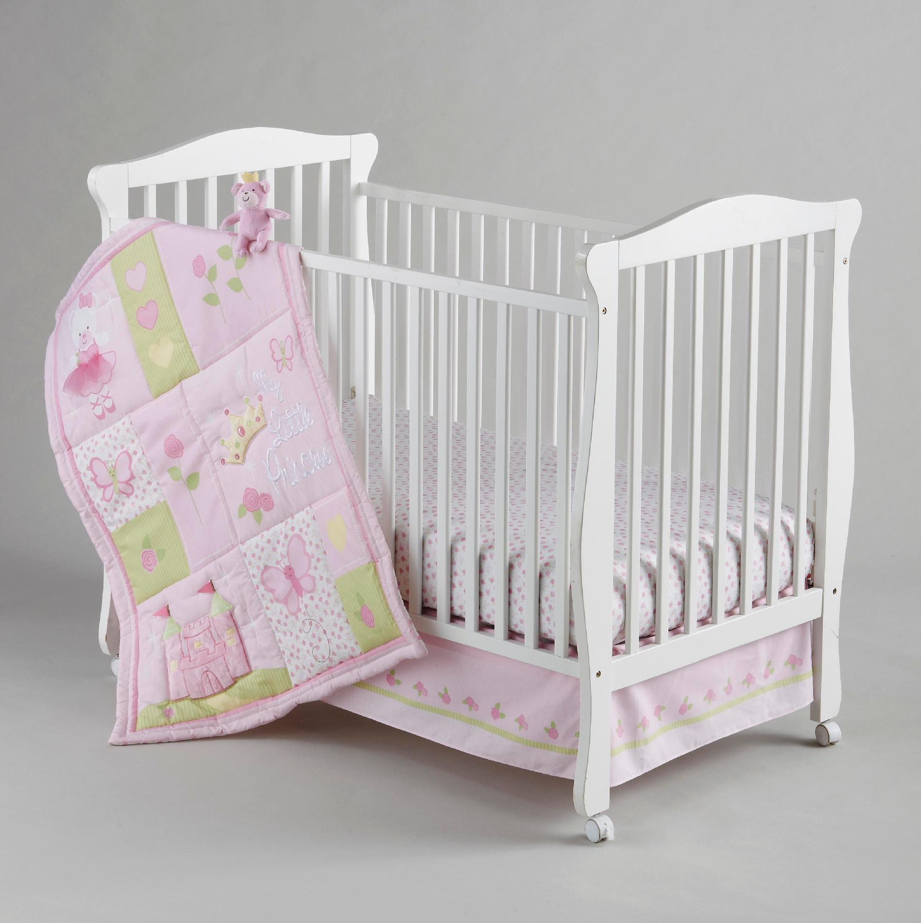 Little Bedding By Nojo Infant Girl S Princess Rose Crib
