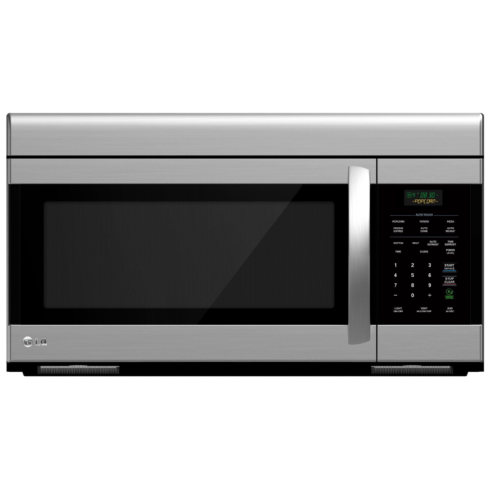 lg lmv1683st 1 6 cu ft stainless steel over the range microwave