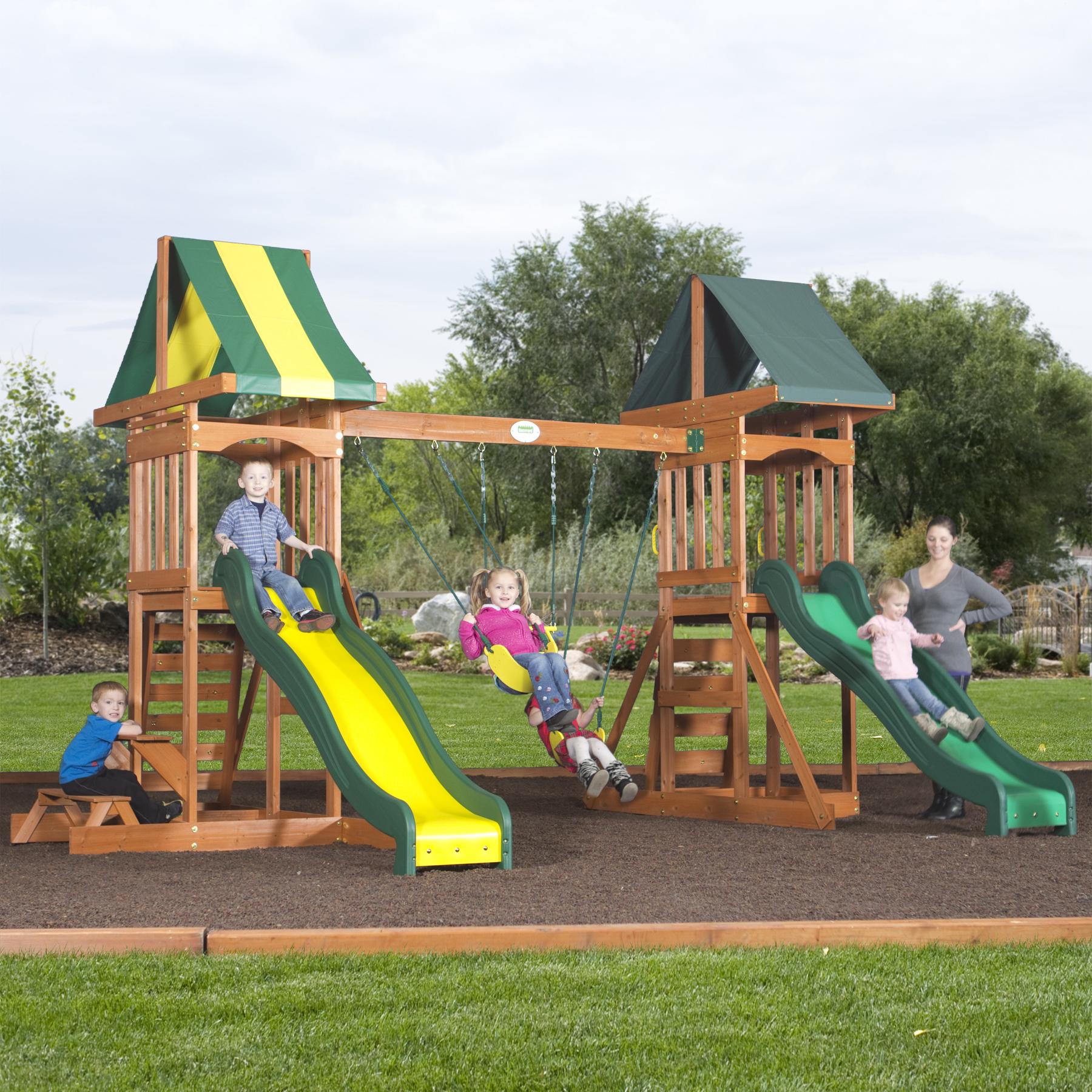 backyard discovery fort talon all cedar play set toys games outdoor play outdoor
