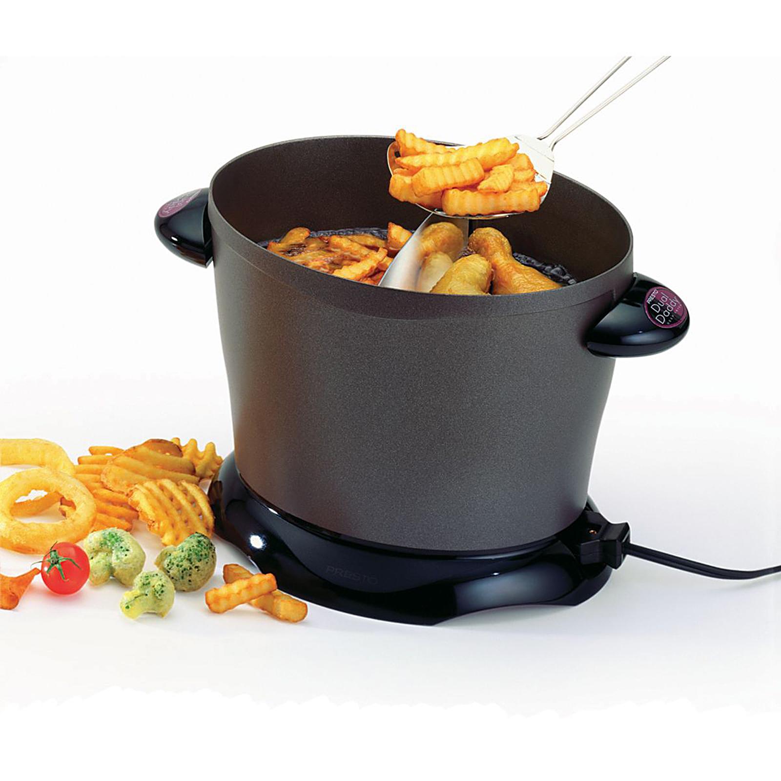 Presto 8 Serving DualDaddy Electric Deep Fryer Appliances Small Kitchen Appliances Deep Fryers