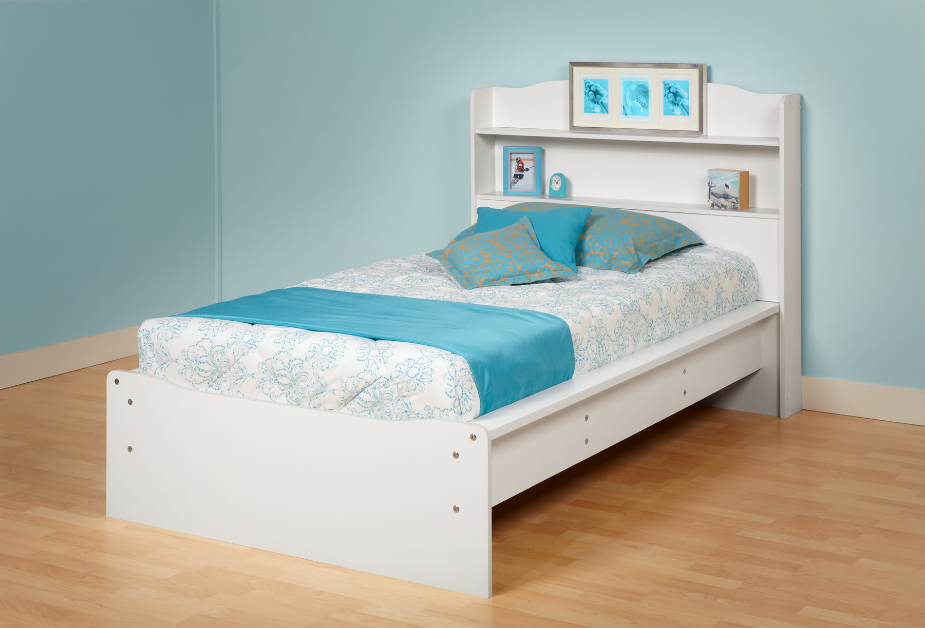 Twin Bed With Bookcase Headboard