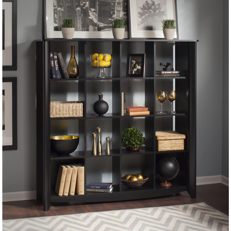 Bush Furniture Aero 16 Cube Bookcase Room Divider