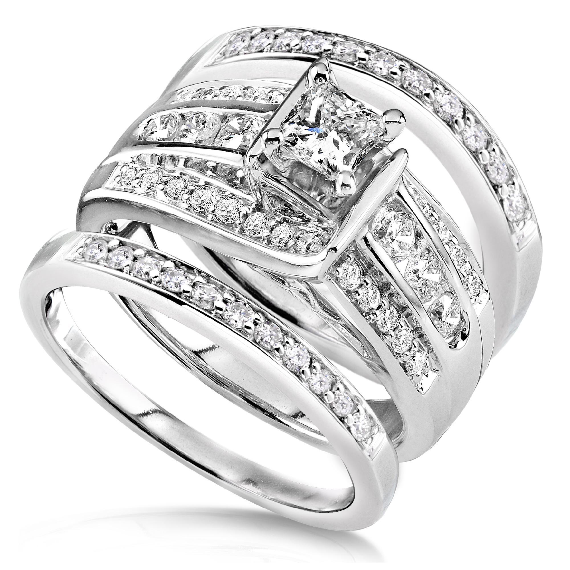 Diamond Me Princess Diamond Wedding Ring Set 1 110 Carat