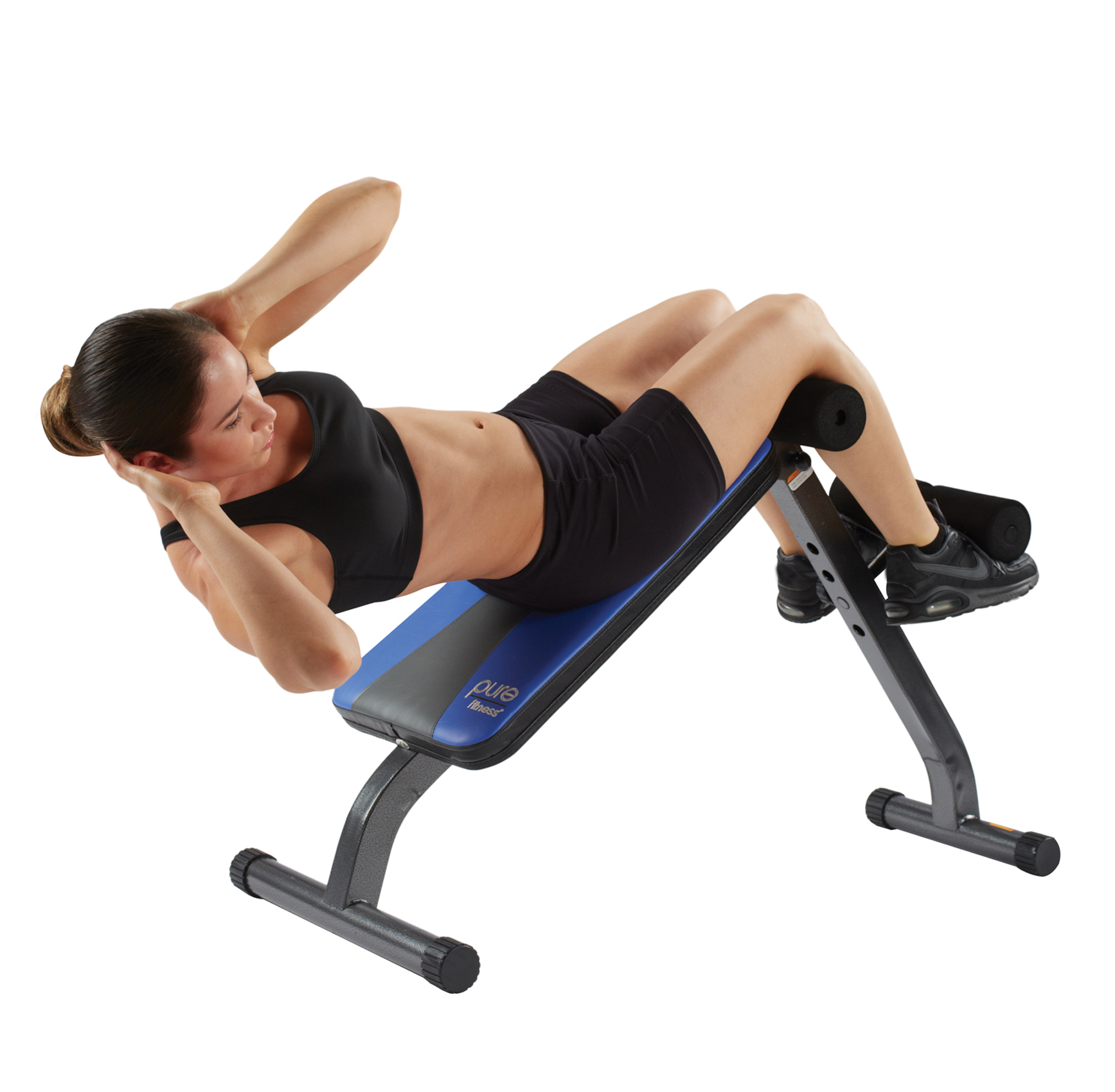 Pure Fitness Ab Crunch And Sit Up Bench Fitness Amp Sports