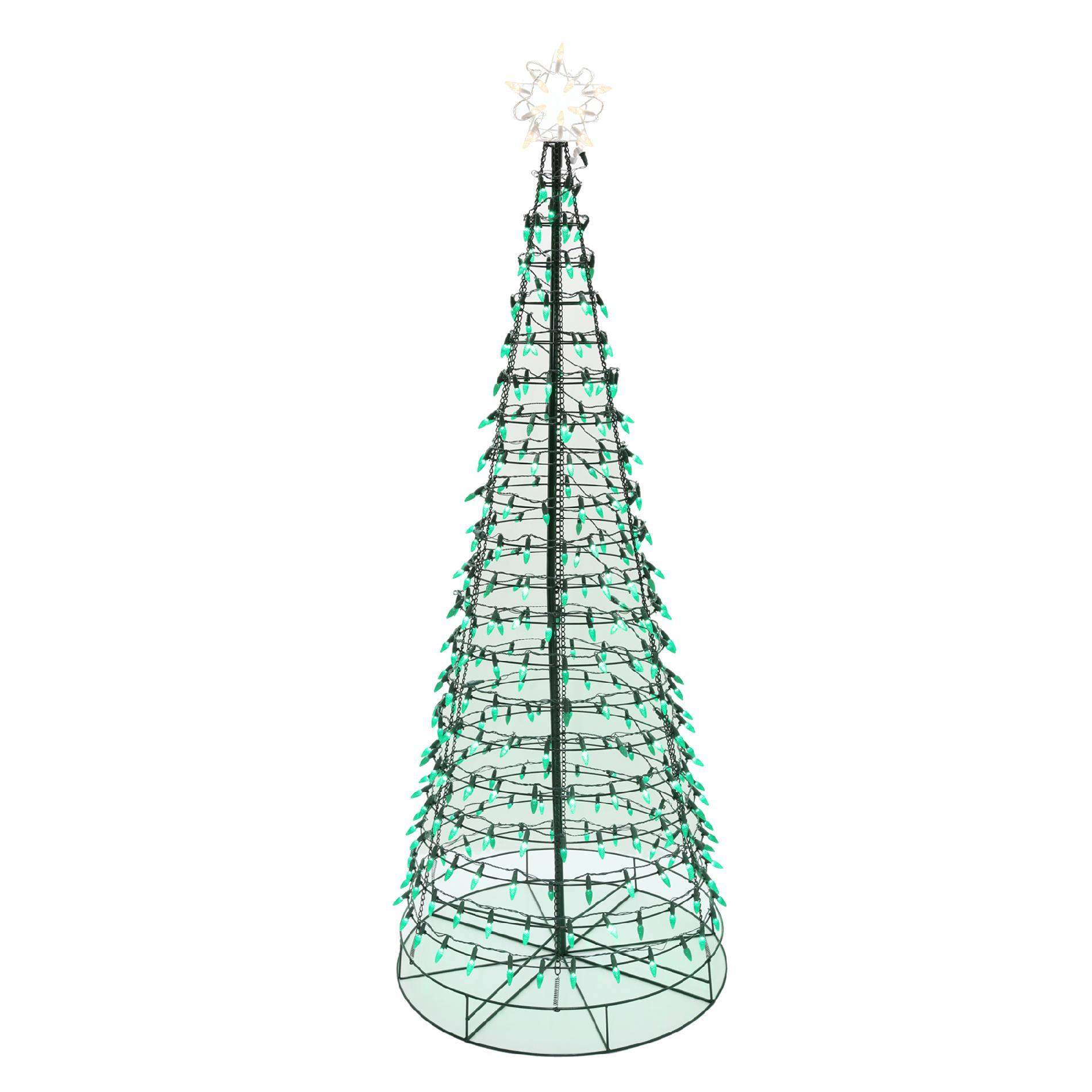 Energy Best 6 350 Green LED Light Metal Christmas Tree