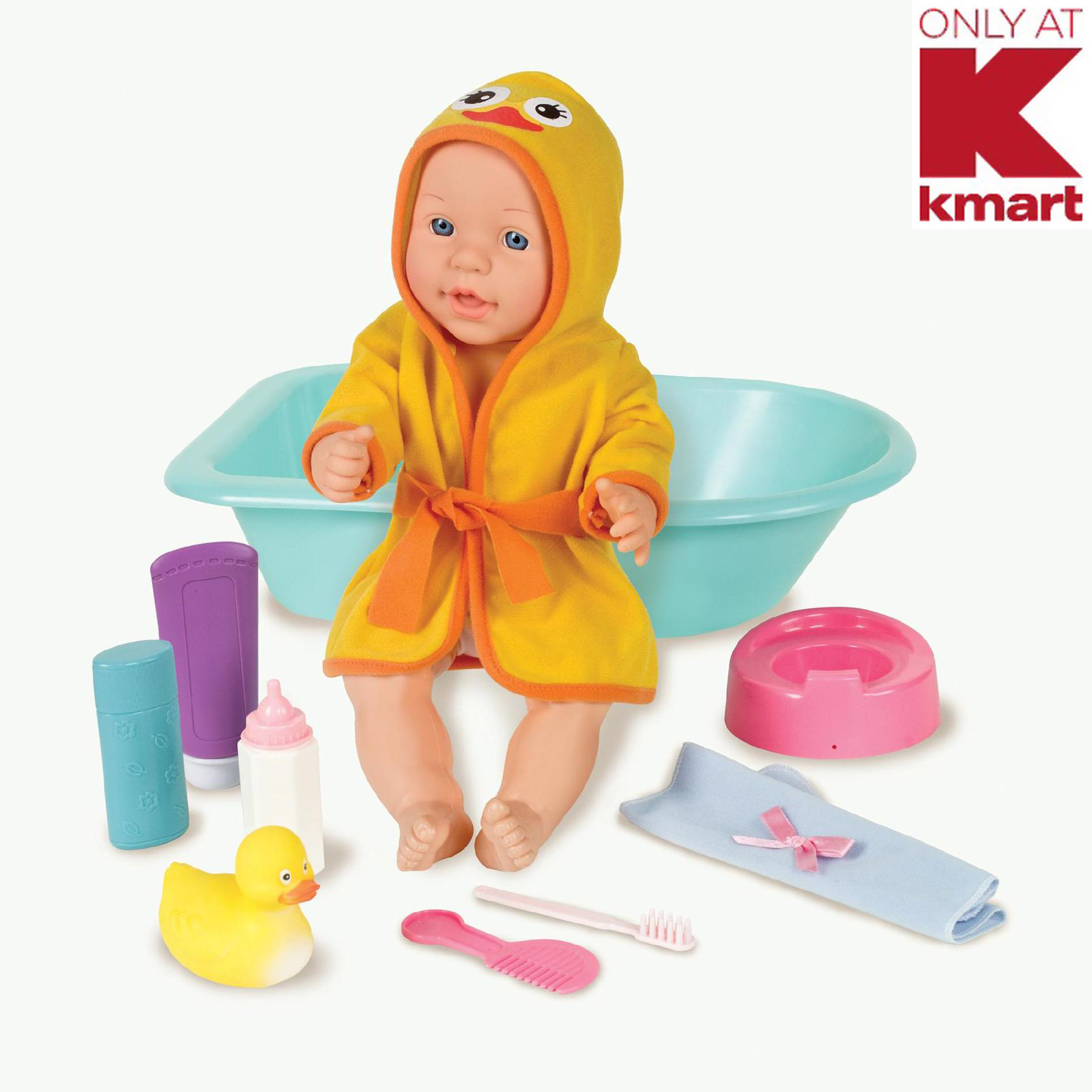 Just Kidz 15 Baby Doll With Bath Set