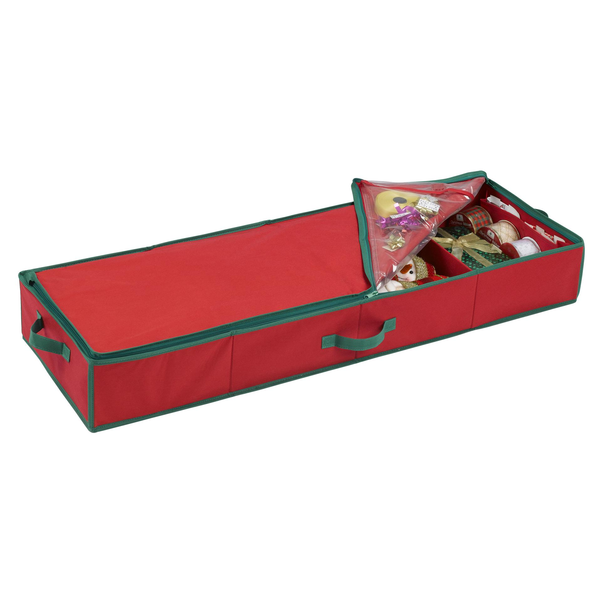 Essential Home Red Gift Wrap Storage Bag