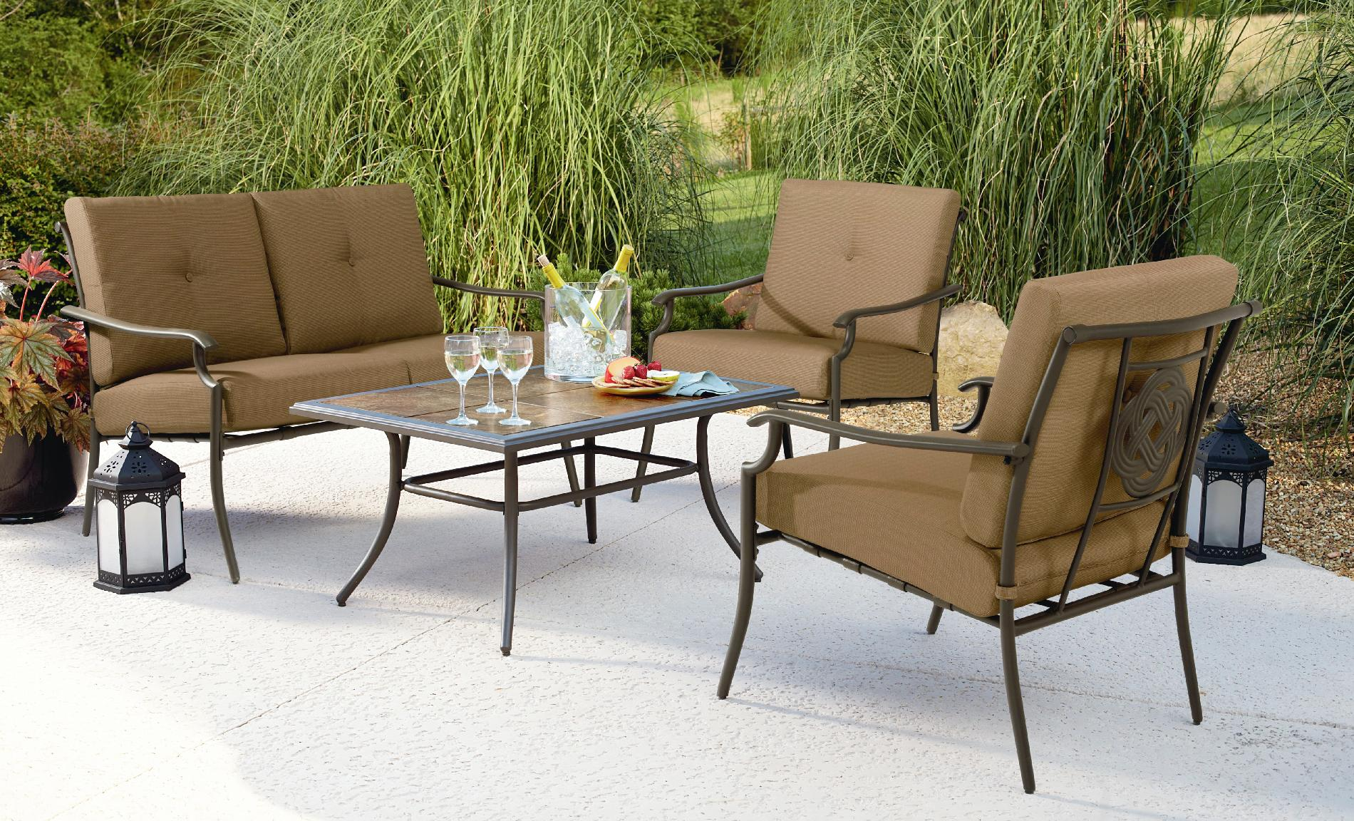 Garden Oasis Emery 4Pc Cushion Seating Set* Limited ... on Outdoor Living Ltd  id=17879