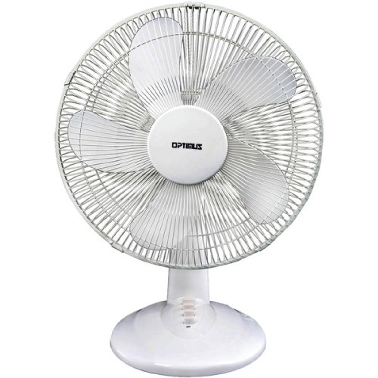 Optimus 97078880M 16 Oscillating Table Fan In White