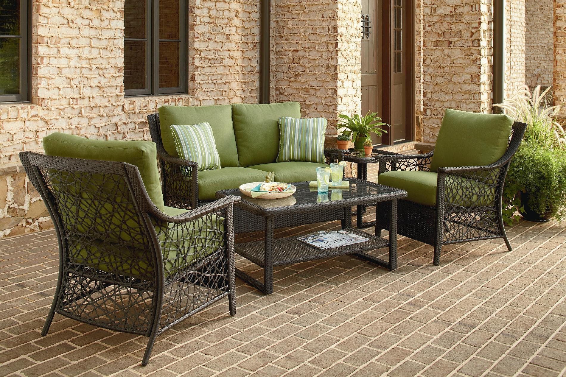 agio international sorrento 4 aluminum woven on Agio Patio Furniture id=35787