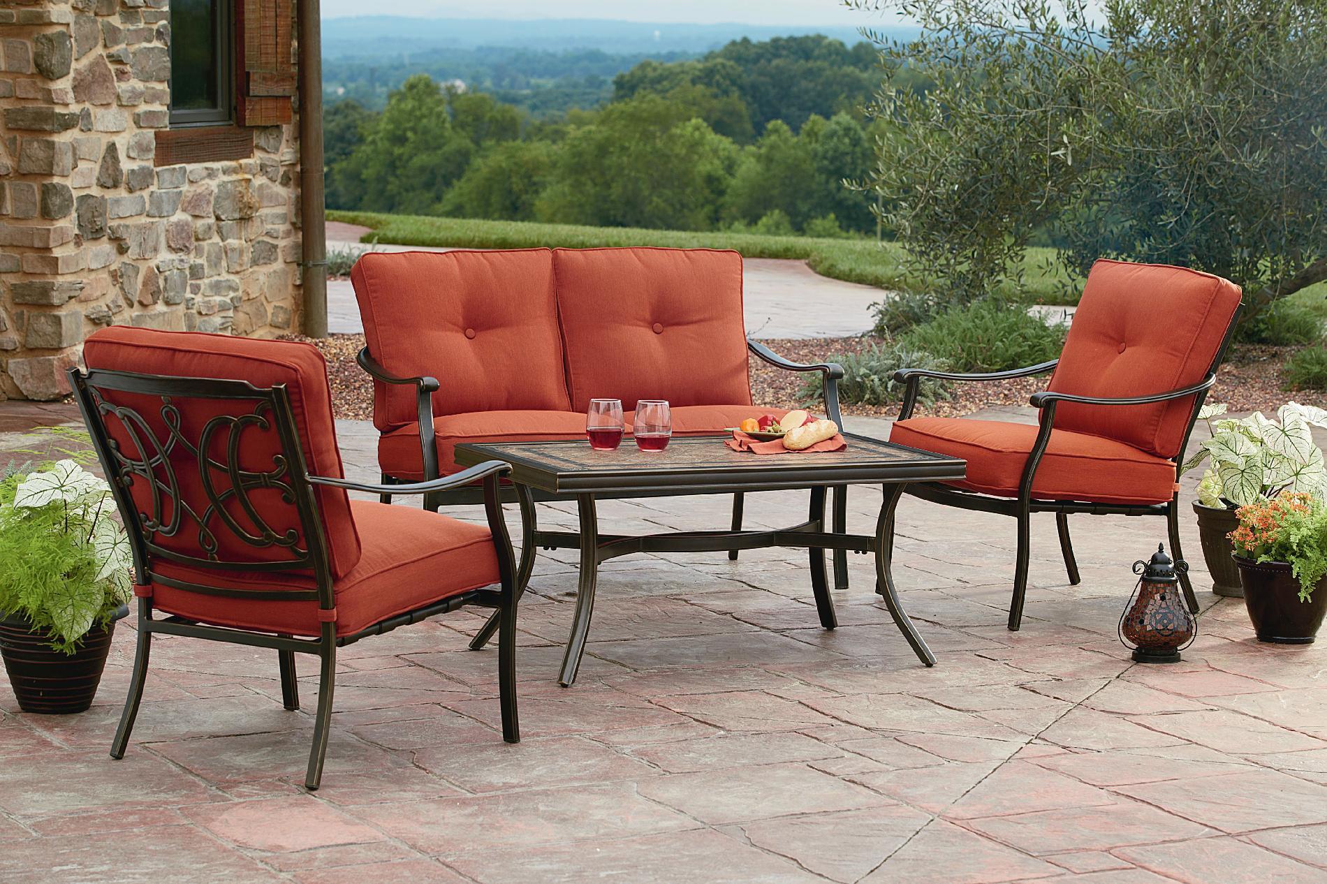agio international tuscany 4 seating set featuring Agio Patio Furniture id=16750
