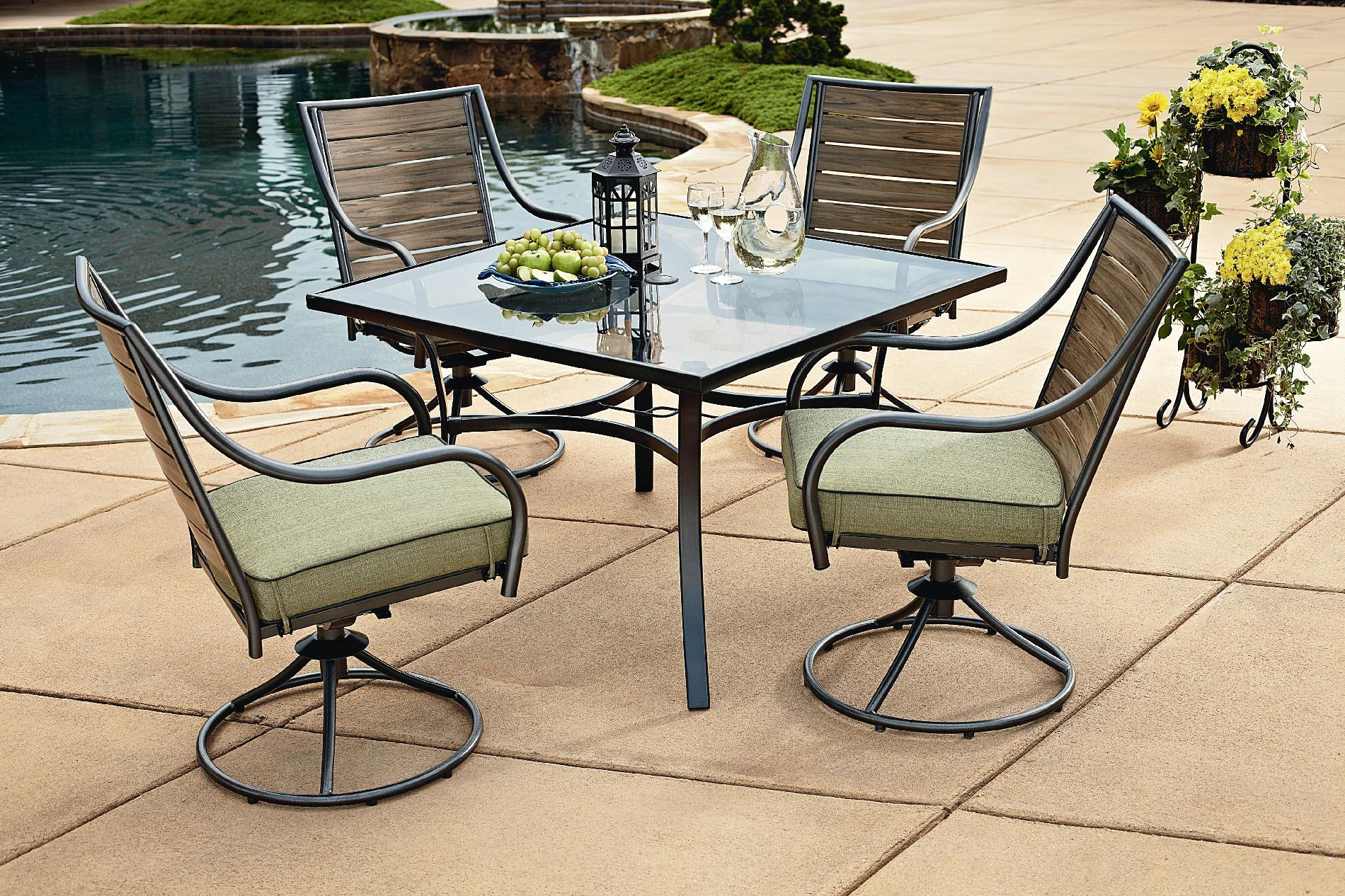 sears patio furniture sets Garden Oasis - S13S4162R - Brooks 5pc Patio Dining Set