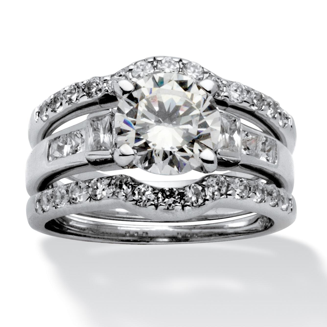 PalmBeach Jewelry 295 TCW Round Cubic Zirconia Platinum