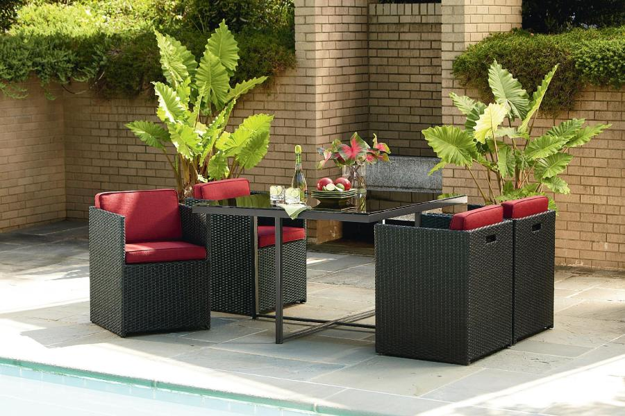 La Z Boy Outdoor   DEMM 5PC   Emett 5 Piece Dining Set   Sears Outlet La Z Boy Outdoor Emett 5 Piece Dining Set