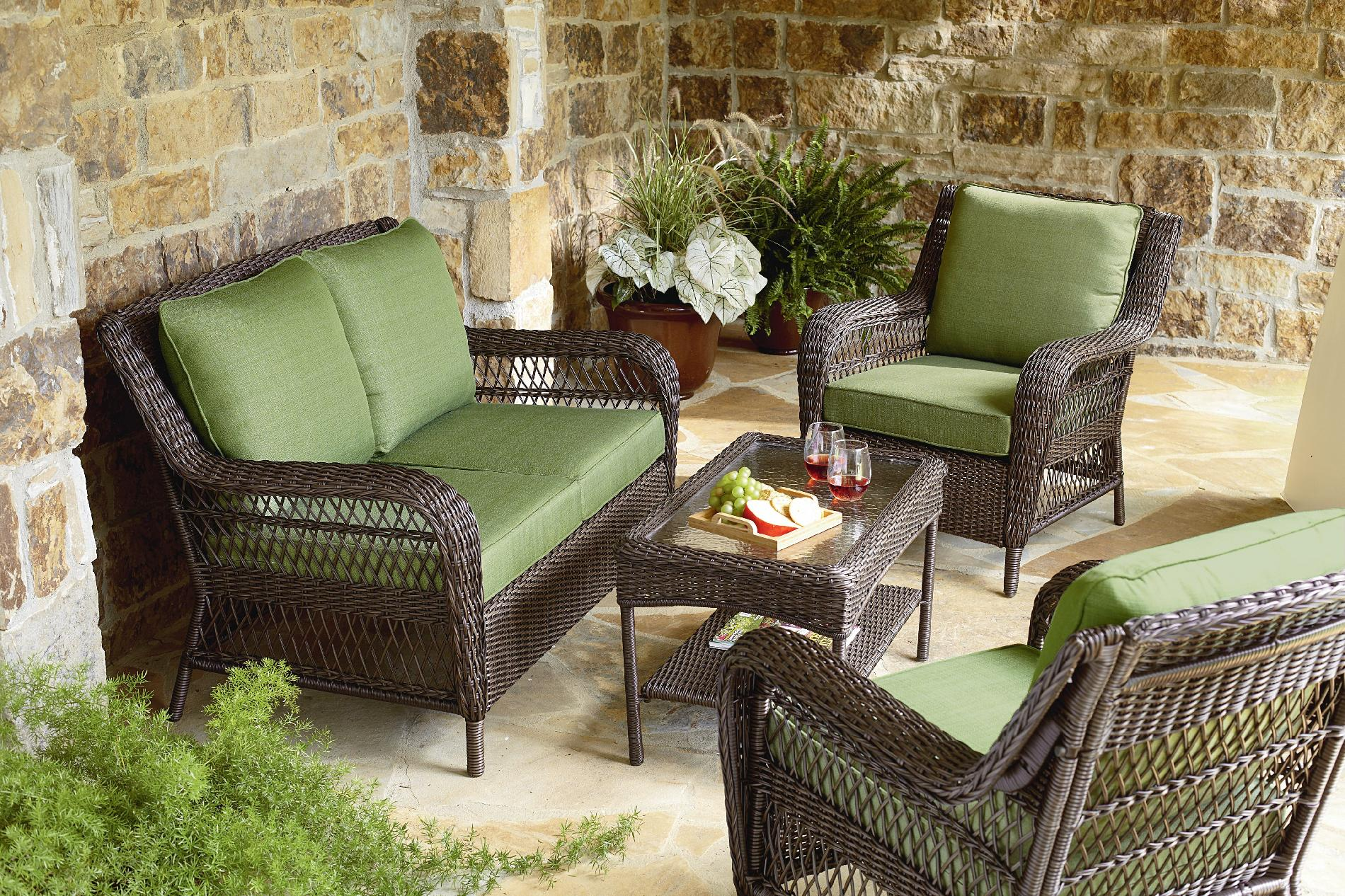 Mason Green Easton 4 Piece Deep Seating set - Outdoor ... on Casual Living Patio id=34834