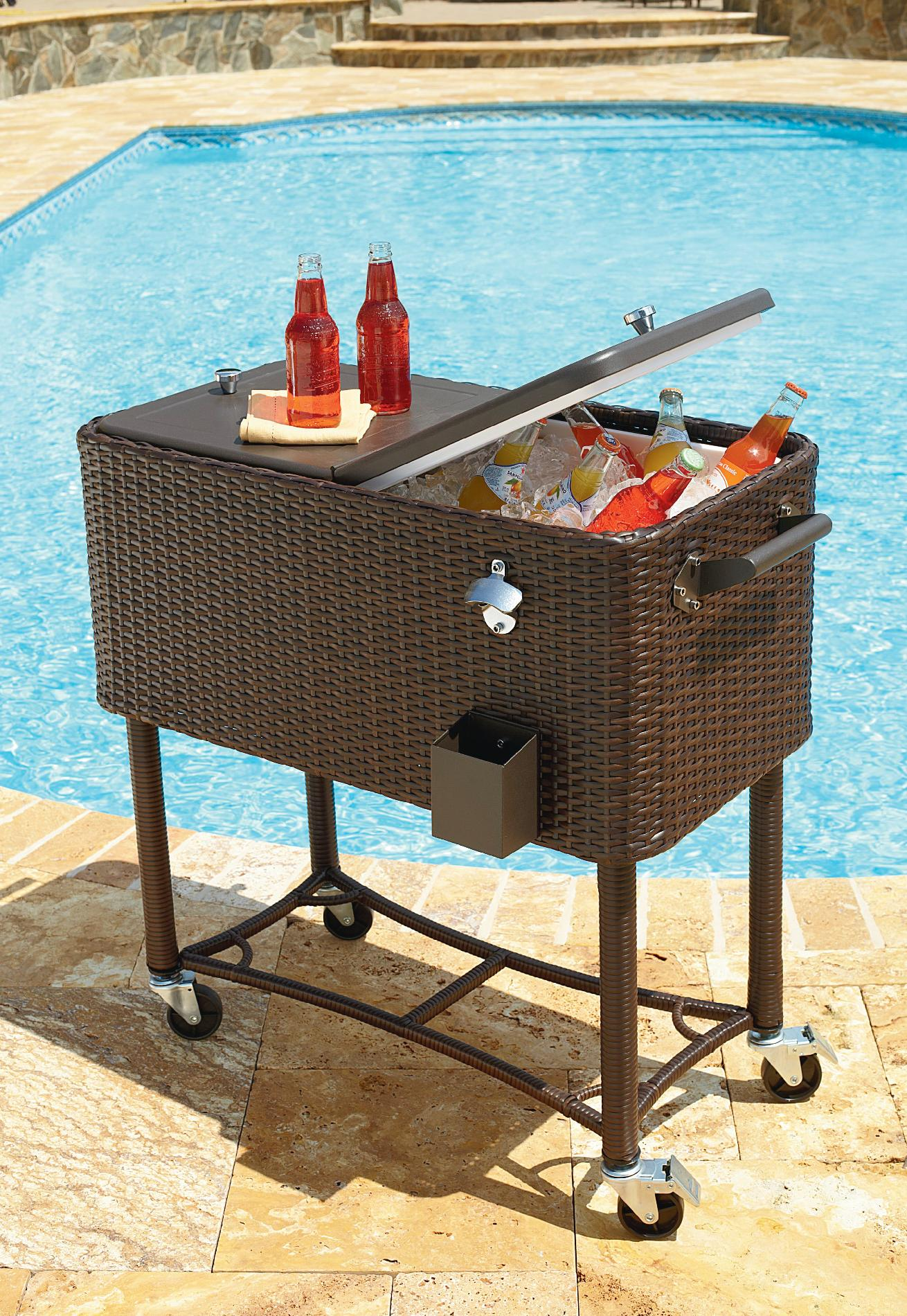 Garden Oasis 80qt Wicker Patio Cooler - Outdoor Living ... on Outdoor Living Wicker  id=39521