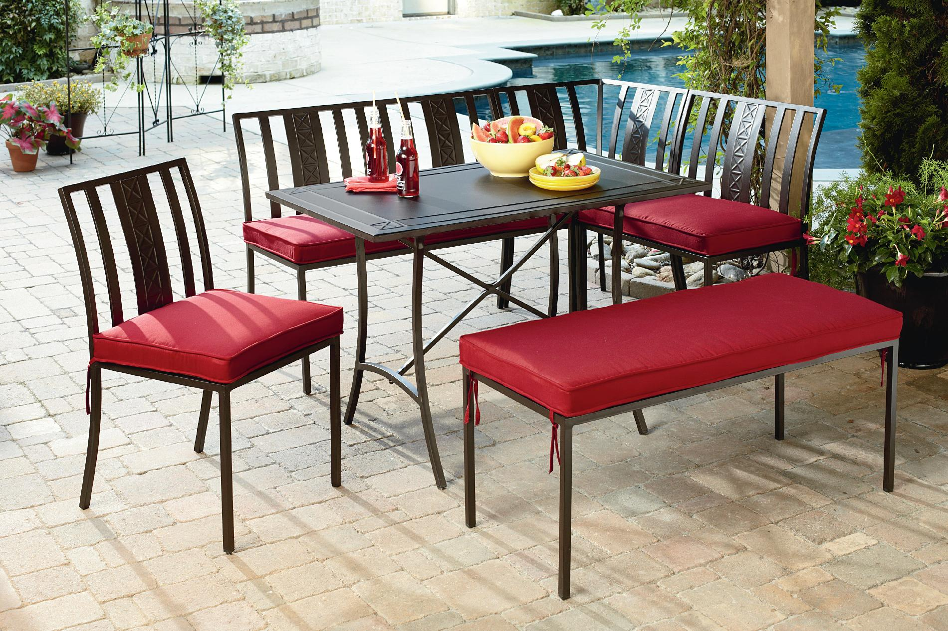 jaclyn smith jackson 6 piece nook dining set review cheap patio furniture 2014