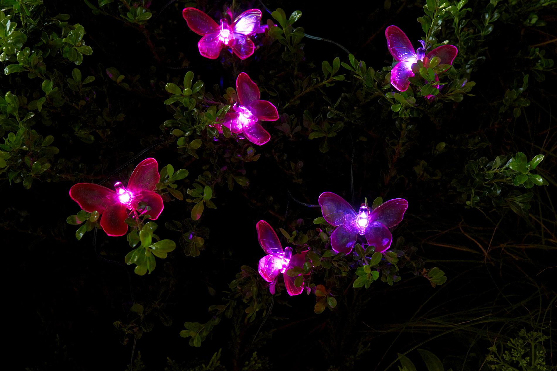 Essential Garden Solar Butterfly String Lights 20 Ct Limited Availability