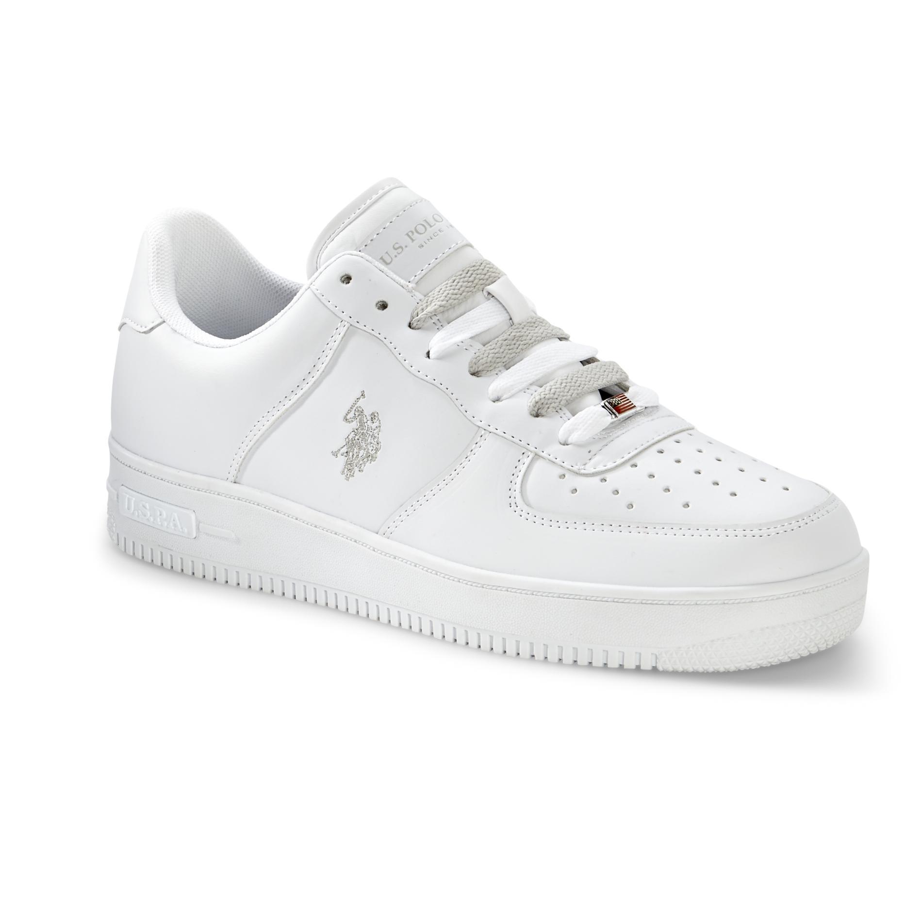 US Polo Assn Mens Branson Casual Sneaker White