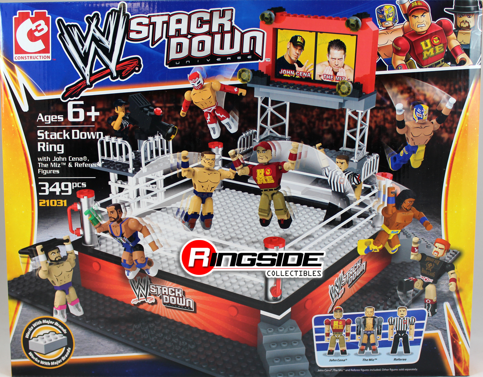 WWE StackDown Ring StackDown Universe Toy Wrestling