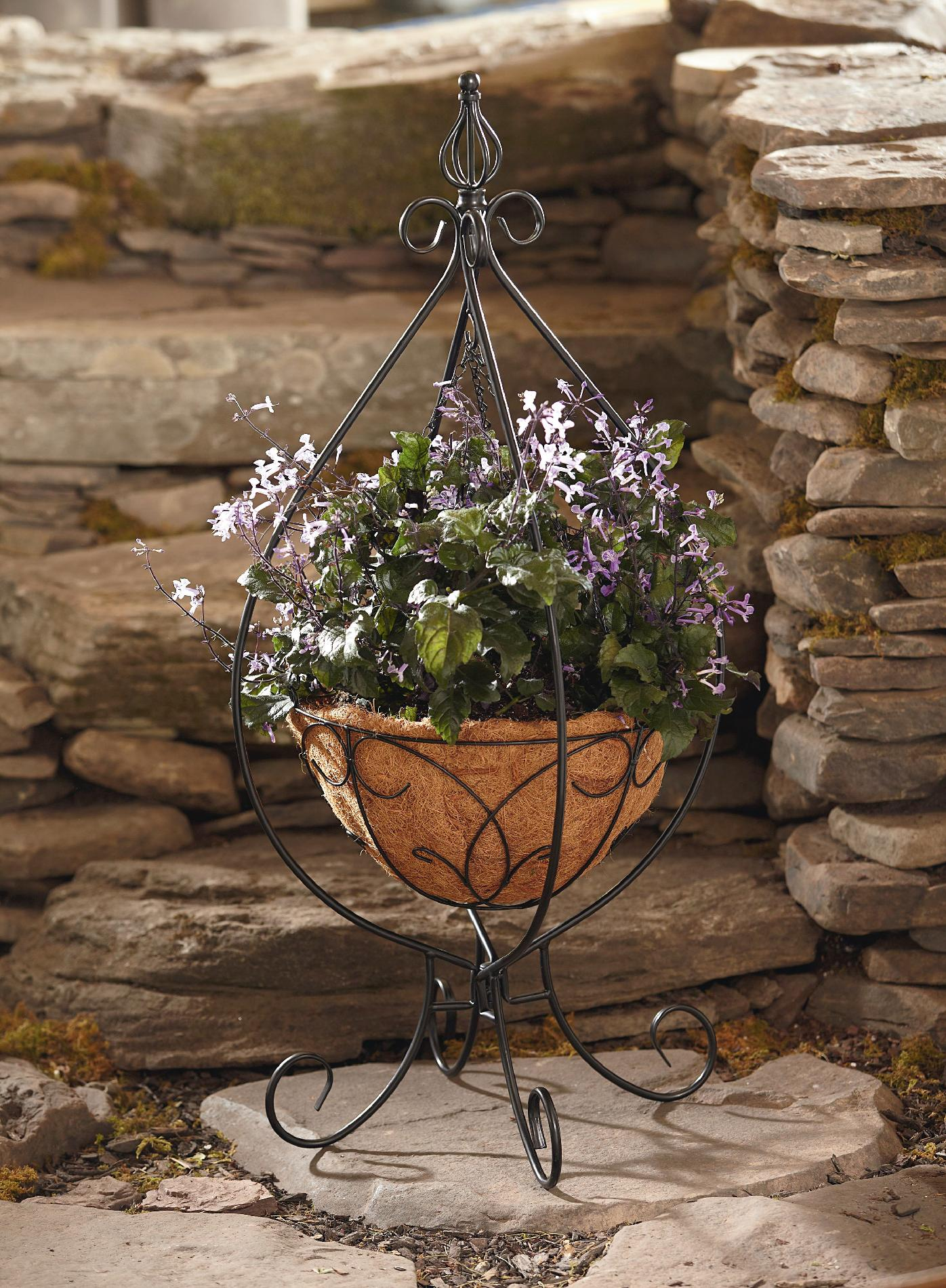 Essential Garden Hanging Basket Plant Stand* Limited ... on Iron Stand Ideas  id=70811
