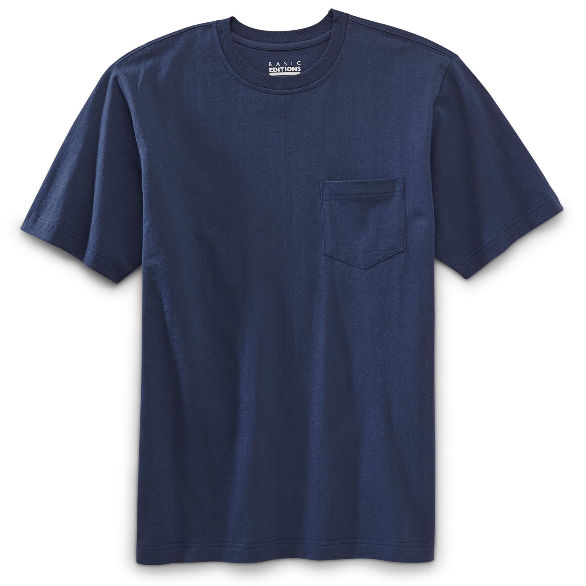 Basic Editions Mens Big Amp Tall Pocket T Shirt Size XLT