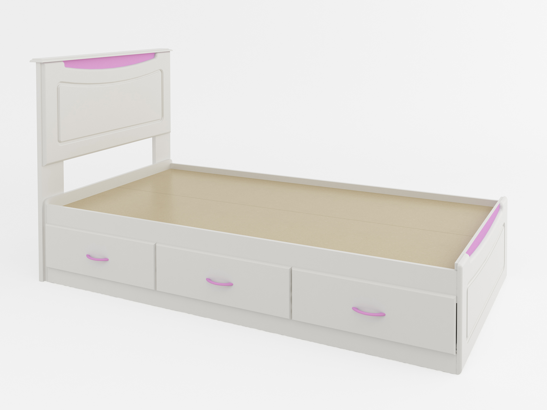 Dorel Home Furnishings Mates Twin Storage Bed With Colored