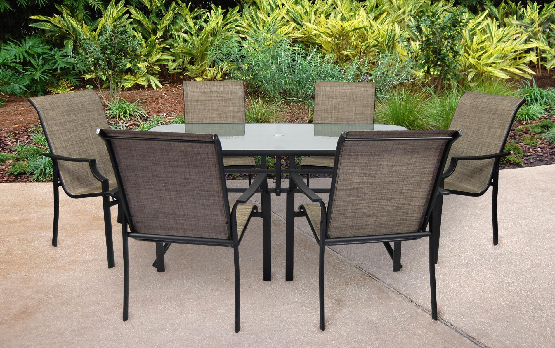 sears patio furniture dining sets SS-355-2SET - Fairfield 7 pc Patio Dining Set | Sears Outlet