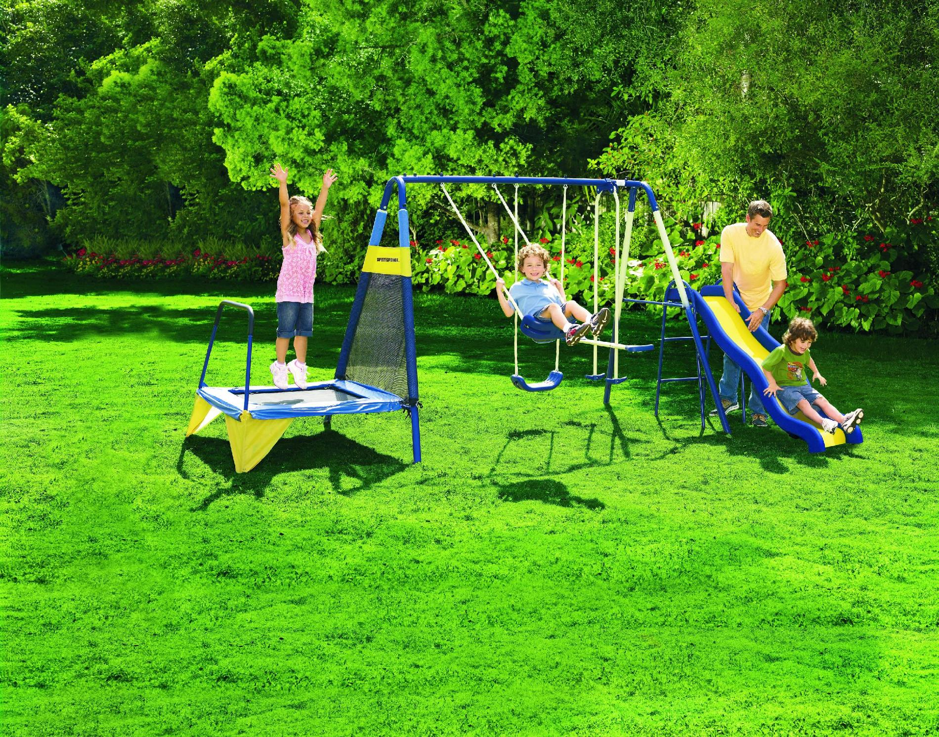 Sportspower Jump N Swing Metal Swing Set