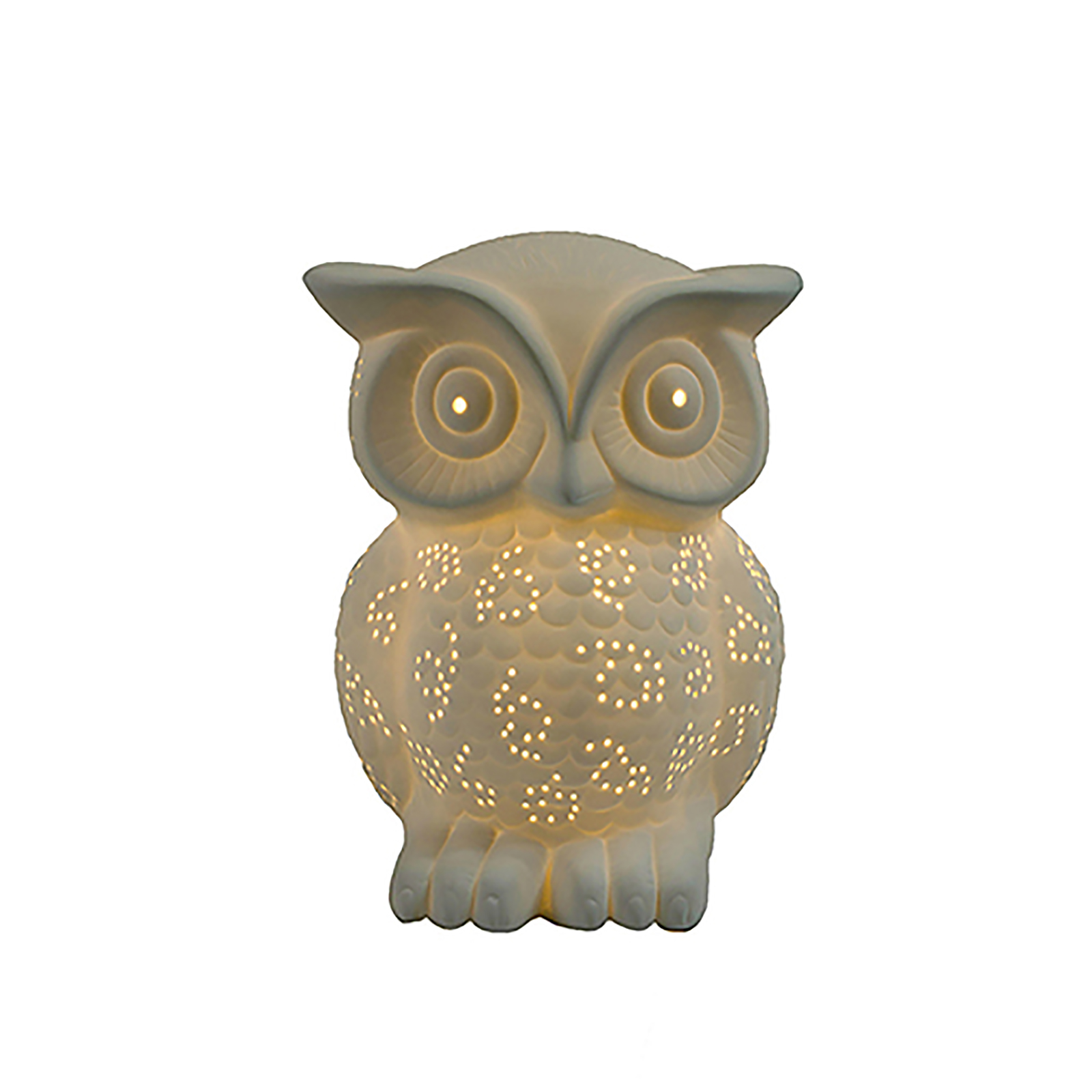 Simple Designs Porcelain Owl Shaped Table Lamp