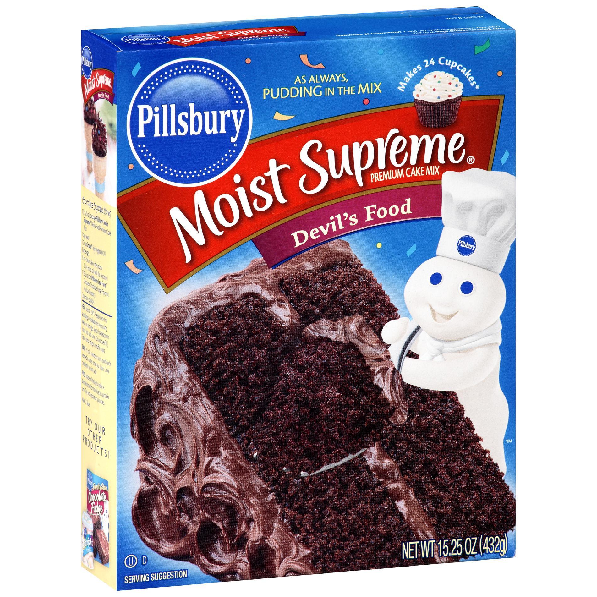 Pillsbury Cake Mix Devil S Food Moist Supreme Premium 15