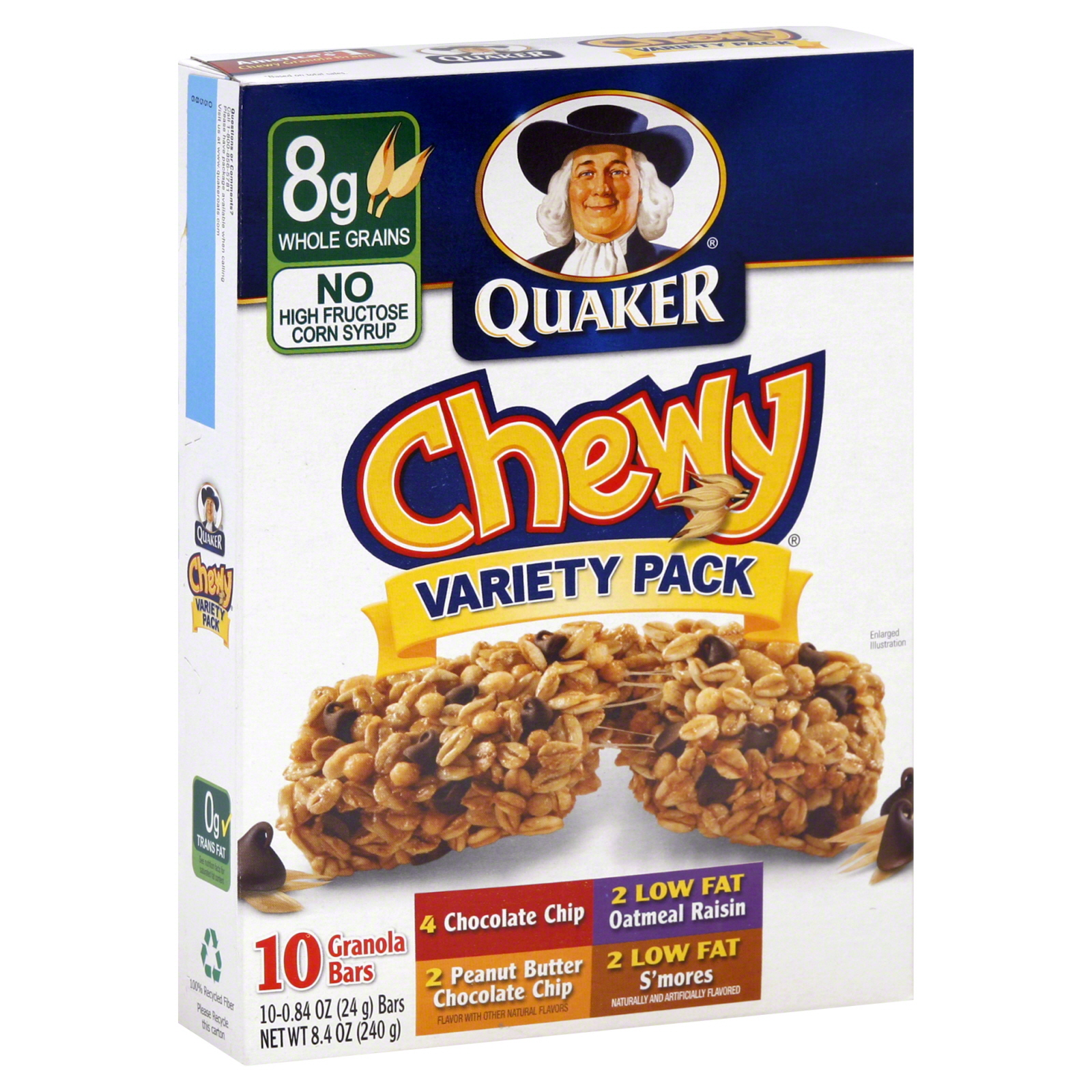 Quaker Chewy Granola Bars Variety Pack 10 084 oz 24