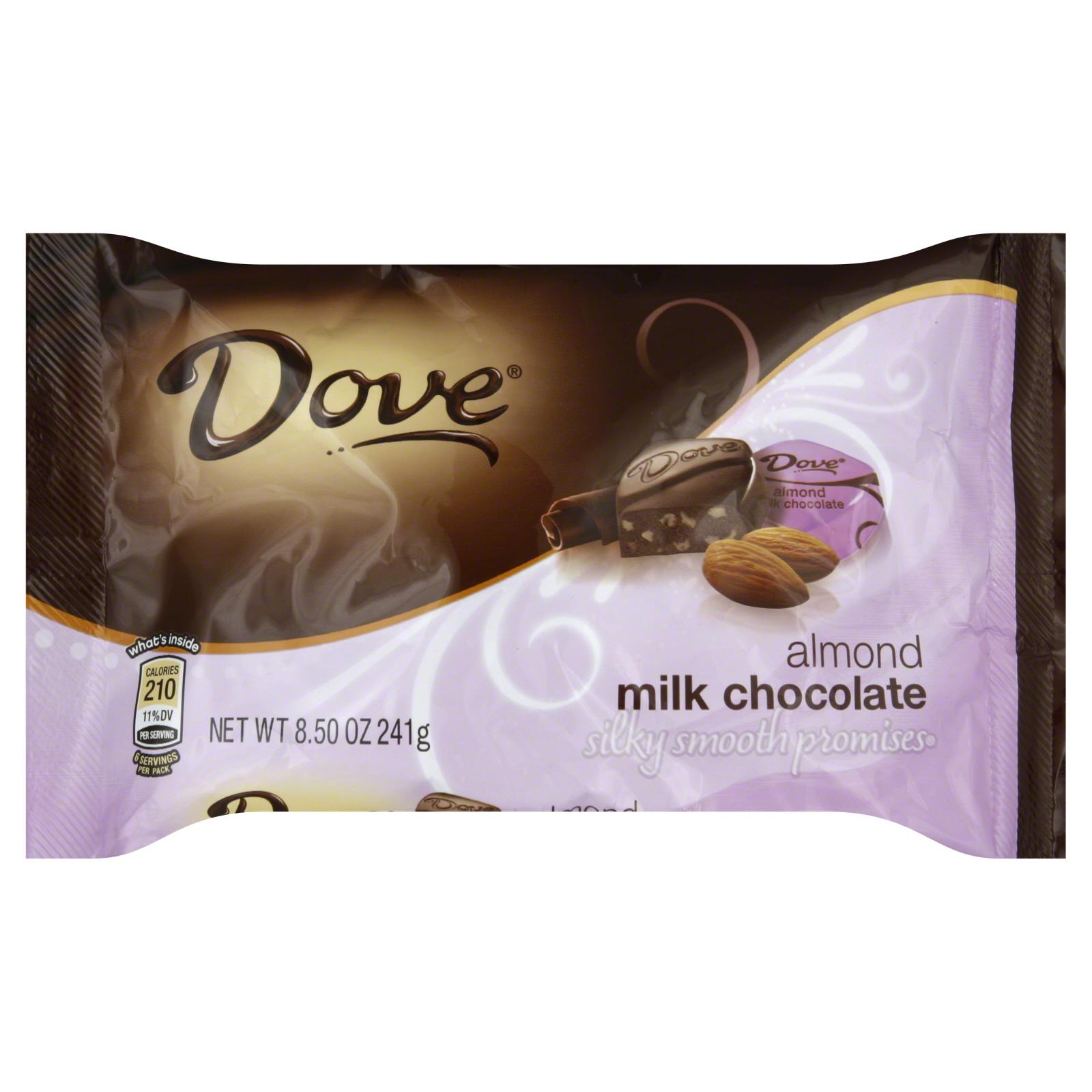 Dove Smooth Milk Chocolate With Almonds 85 Oz 241 G