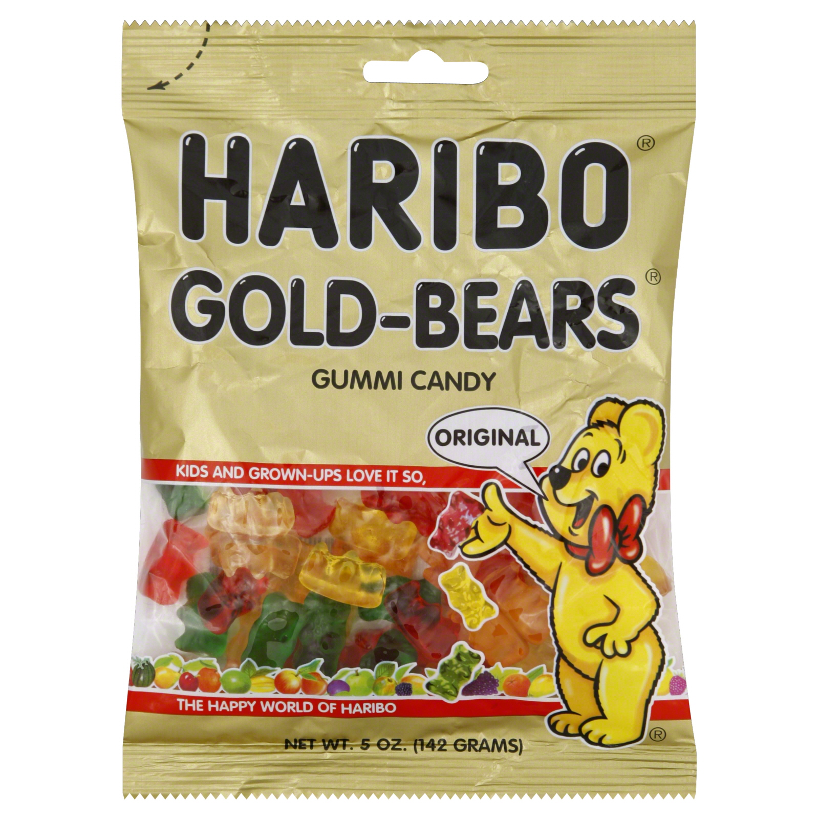 Haribo Gold Bears Gummi Candy Original 5 Oz 142 G