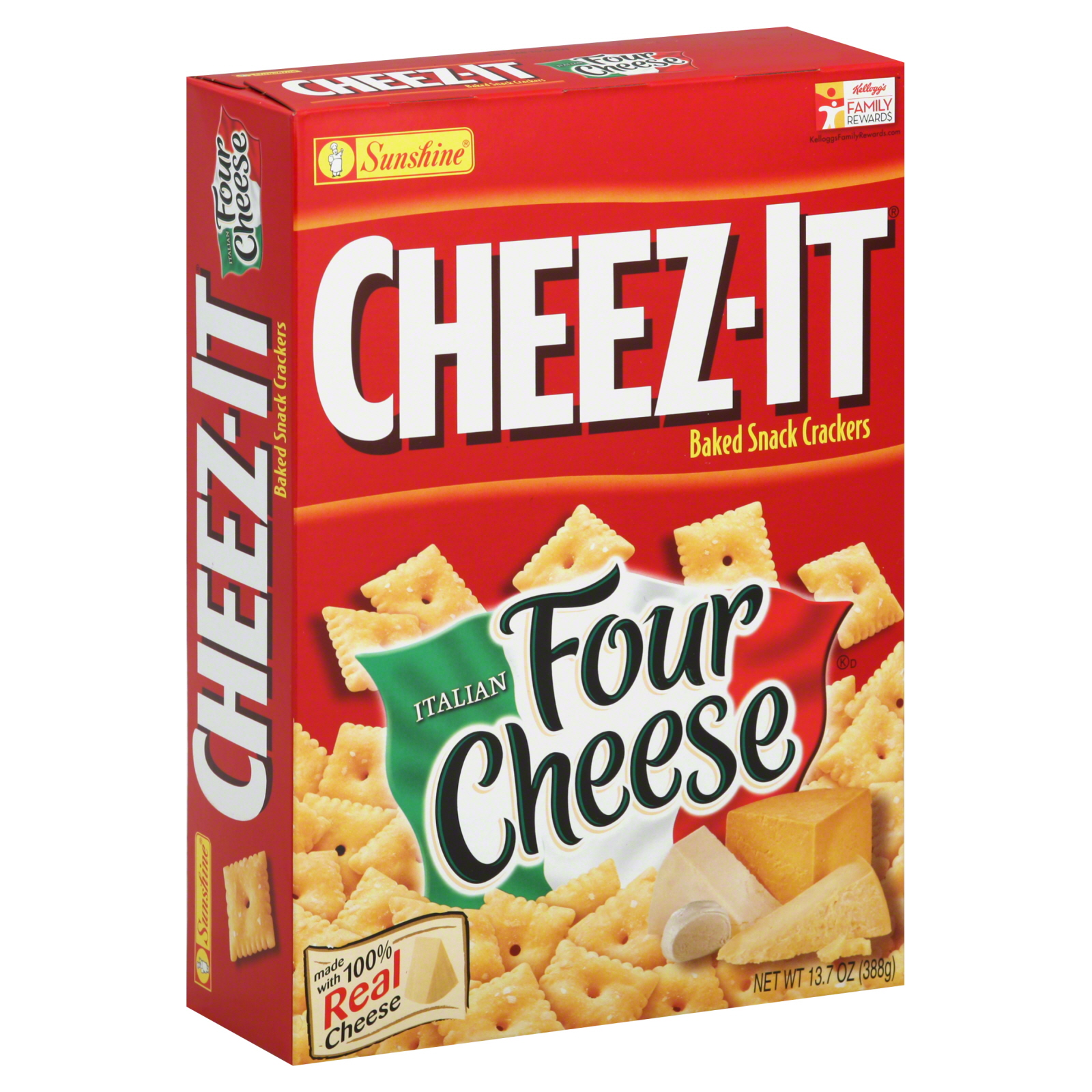 Cheezit Baked Snack Crackers Italian Four Cheese 137