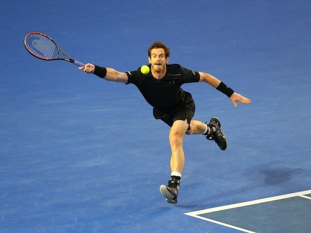 Andy Murray in action during the Australian Open final on January 31, 2016