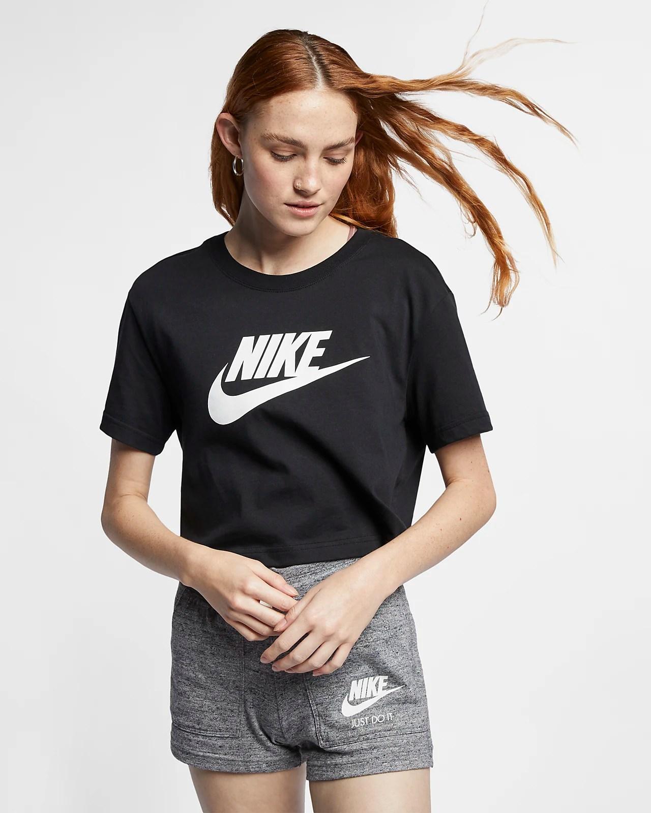 Nike Sportswear Essential 女子短款T恤-耐克(Nike)中國官網