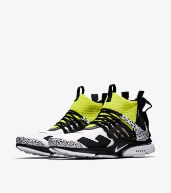 Air Presto Mid Utility X Acronym 'White & Black & Dynamic Yellow' Release Date