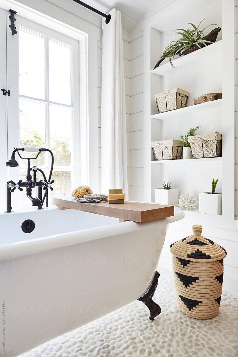 Rustic modern farmhouse bathroom in small cottage by ... on Modern Farmhouse Shower  id=33844