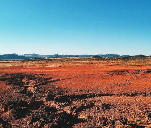 Red Barrren Soil In Wild National Park Landscape Chapada Dos Veadeiros Brazil By