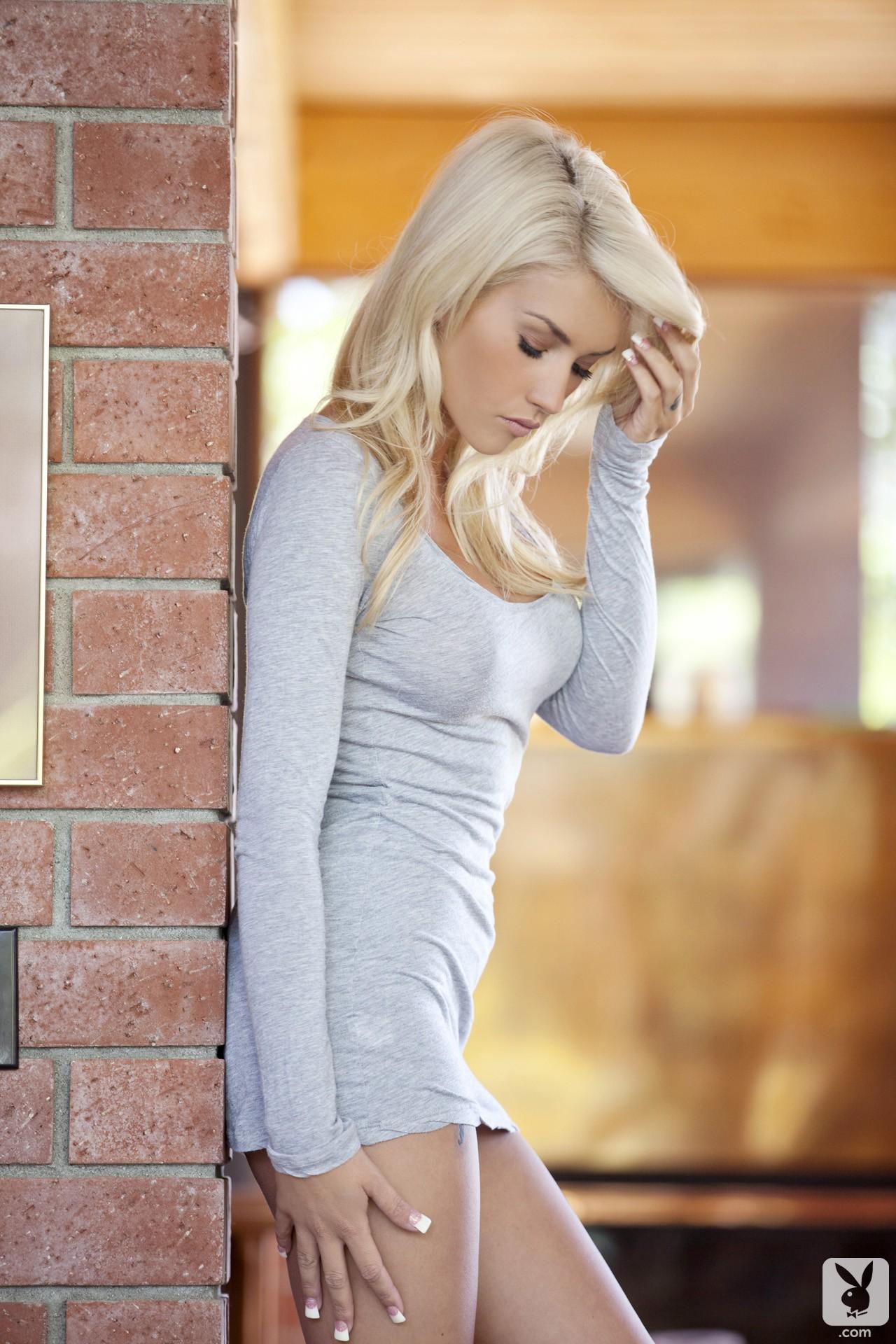 Wallpaper Model Long Hair Minidress Platinum Blonde