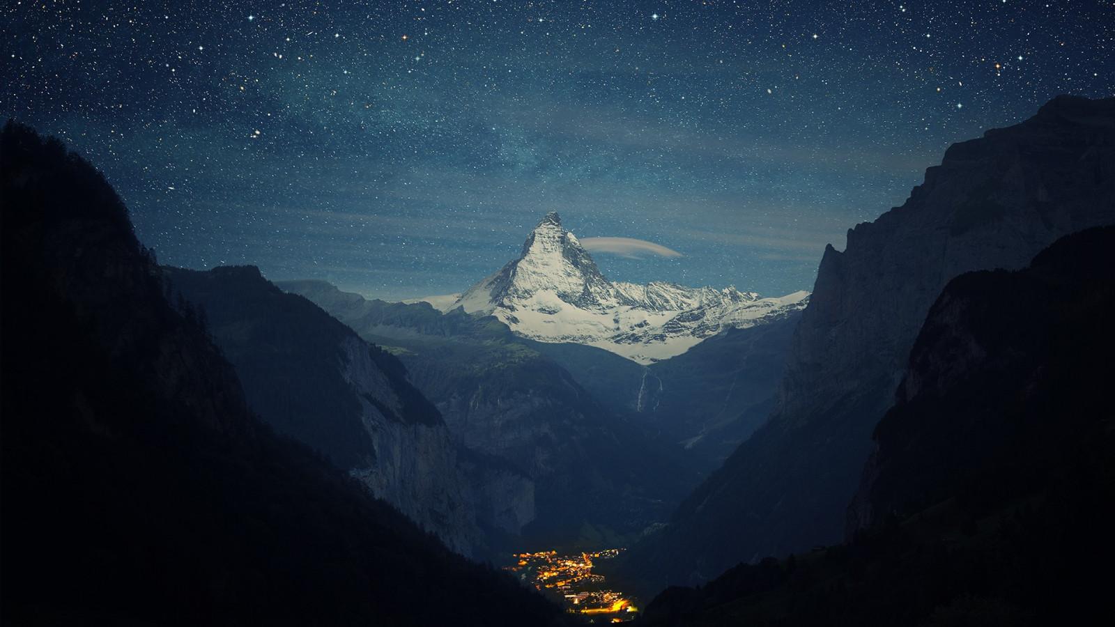 fond d ecran nuit la nature ciel