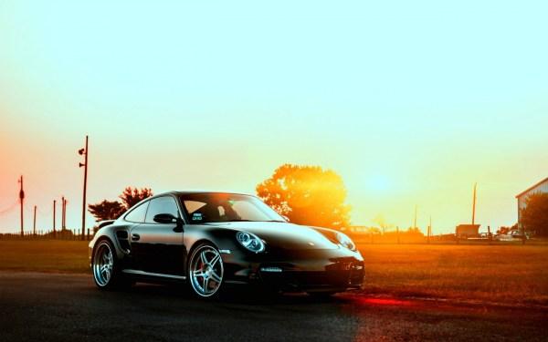 Fond d'écran : Porsche, des voitures, ville, le coucher du ...