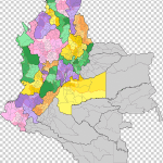 Departments Of Colombia Map Colombia Wikimedia Commons Flower Road Map Png Klipartz