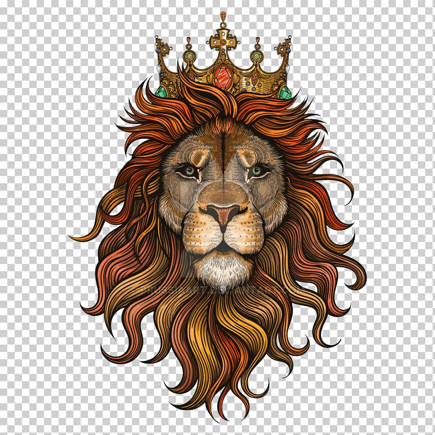 Lion Head With Crown Illustration Lion Drawing Art Lion Lion Png Klipartz