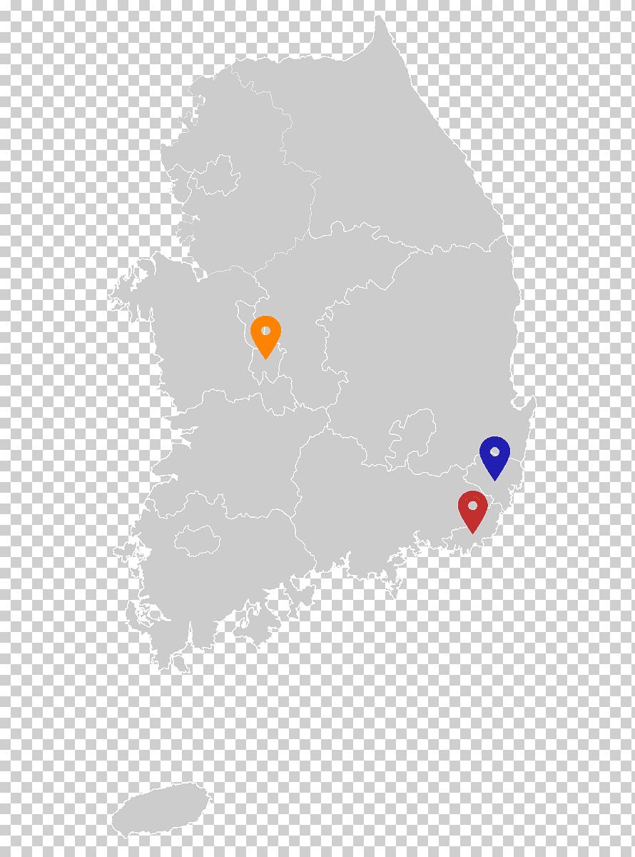 Ulsan North Korea Gyeongju Daegu Geumsansa Map Blank Map South Korea Png Klipartz