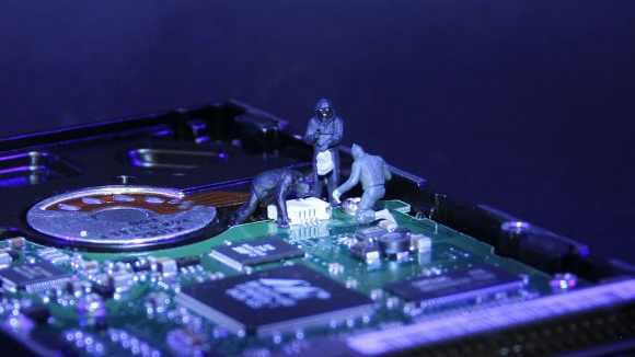 HD wallpaper: information technology, data thieves, miniature ...