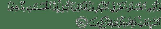 Quran 11:114