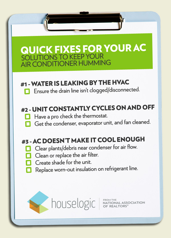 Quick fixes for your AC checklist on HouseLogic