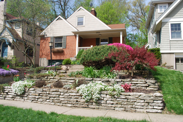 Gorgeous Landscaping Ideas: Trees, Lighting, and Retaining ... on Terraced Front Yard Ideas id=46880